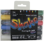 GRAPH'IT SHAKE Set de 6 Marqueurs Medium - Basic
