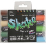 GRAPH'IT SHAKE Set de 6 Marqueurs Medium - Nature