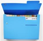 DOCUMENT trieur 13 poches A4 - Bleu