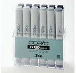Set COPIC MARKER - 12 gris froids