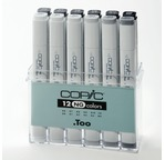 Set COPIC MARKER - 12 gris neutres