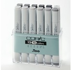 Set COPIC MARKER - 12 gris toners