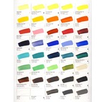 Laminated, hand-painted GOLDEN HEAVY BODY/FLUIDS/OPEN colour charts - 80 colours