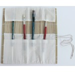 Bamboo mat with pockets for brushes - 30 x 30