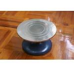 Chromed steel turntable - 18 cm diameter