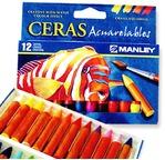 Boîte de 12 pastels à la cire aquarellables