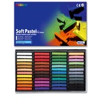 Cardboard box 24 soft pastels - assorted colours