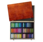Cardboard box 48 soft pastels - assorted colours