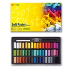 Box of 6 soft pastels, single colour, bar-coded: 002 yellow ochre
