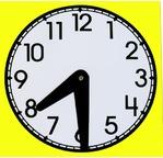 HORLOGE Sachet de 10 horloges en polypro avec aiguilles amovibles 15cm