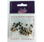 DIAMS 50 Cabochons RONDS 5mm - Assort Zen