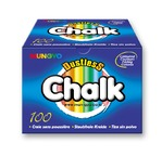 Box od 100 chalks with different assorted colours