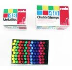 CHUBBI STUMPS, boîte de 40 crayons cire assortis