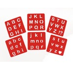 Lot de 6 pochoirs 15x15cm - Alphabet