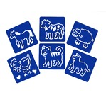 Set of 6 stencils 15x15cm - Transport