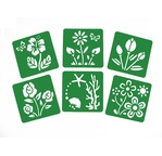 Set of 6 stencils 15x15cm - Princess
