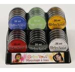 Présentoir GRIM TOUT rempli 30 galets 20 ml - Assort couleurs primaires
