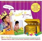 GRIM TOUT Set Conte de Fée : 2 couronnes  et 2 baguettes magiques à décorer