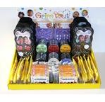 Présentoir de comptoir GRIM TOUT (assortiment de galets, palettes, crayons, pochoirs et accessoires)