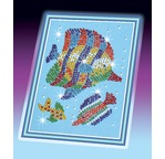 PIC & PIN Tableau de Perles - Poisson tropical