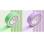 MT 2P Lignes fines vert et mauve / green x purple