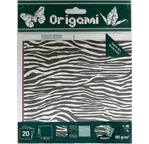 ORIGAMI 20 Feuilles dble face 15x15cm ANIMAUX