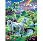 Peinture Une licorne au pays des fées