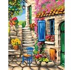 Maxi Peinture par N° - Patio fleuri
