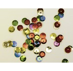 200 Glitter pompons Assorted colours & sizes