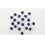 20 Yeux mobiles - 10mm -Noir et Blanc S29B