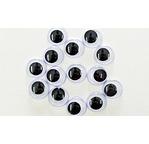20 Yeux mobiles - 15mm -Noir et Blanc