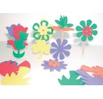 Pack 260 Assorted colours foam shapes 140 letters + 120 figures