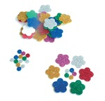 Mousse pailletée adhésive - lot 500 formes pour Fleurs 25mm