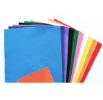 FELT - Voucher 25x45 cm - adhesive - 10 assorted colours