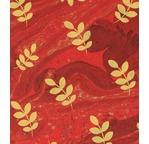 PAPERTREE DS 110g MARBRE Acacia Imprimé feuillage Rouge
