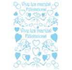 Transfert adhésif DIAM'S-Vive les mariés