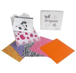Box 100 origami papers 15x15 + 10 cards