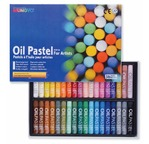 Box of 6 oil pastels single colour: 501 white