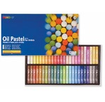 Cardboard box 48 oil pastels - assorted colours