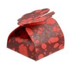 PAPEETREE ELEONORE rouge Floret à plat, lot de 5