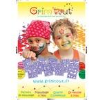 GRIM TOUT PLV Poster de maquillage Pochoirs (A2)