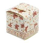 """PAPERTREE SITARA Boîte cadeau """"cube""""- 7x7x7 cm- Ivoire"""