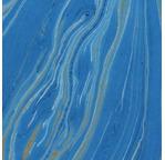 PAPERTREE 50*70 110g MARBRE GOLD Bleu Azur