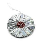 PAPERTREE Fleurs en papier argent o 8 cm Sachet 5 pièces - argent