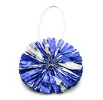 PAPERTREE Fleurs en papier argent o 8 cm Sachet 5 pièces - Bleu