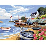 Peinture par N°- Rivage Breton