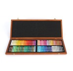 Wooden case 72 oil pastels
