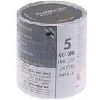 PANPASTEL, Set de 5 couleurs + outils -TEINTES OMBRÉES