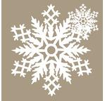 Set de 2 flocons de neige en papier washi - Diam. 21 + 7,5cm