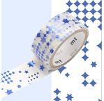 MT FAB métallisé Motif étoiles bleu / star blue NEW AW15